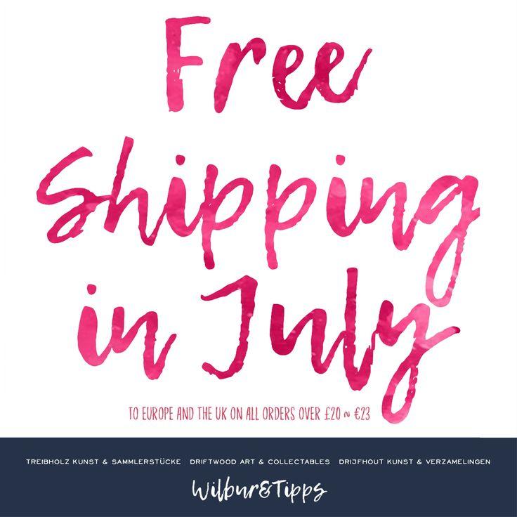 Free shipping to EU and UK in July for all purchases £20/€23 and over  Kostenloser Versand nach EU und UK im Juli für alle Käufe £ 20 / € 23 und mehr  Gratis verzending naar EU en het Verenigd Koninkrijk in juli voor alle aankopen £ 20 / € 23 en hoger