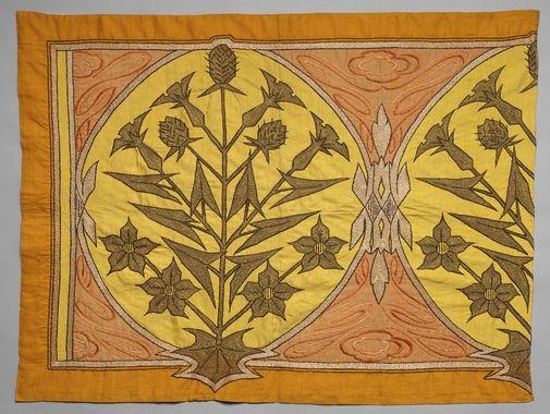 DigitaltMuseum - Överstycke, komponerat av fröken Sjöström. Handarbetets Vänner. Nordiska museets föremål inv.nr 902658