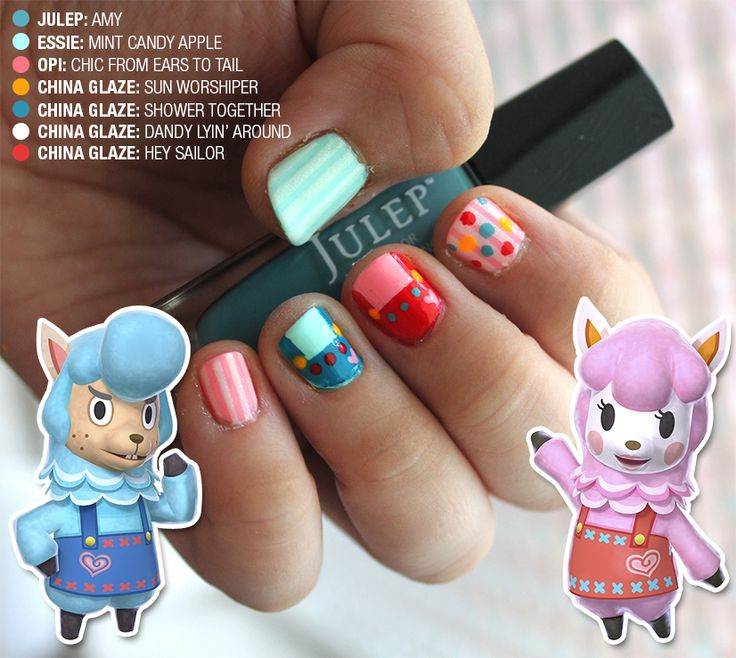47 best nintendo nail art images on pinterest videogames video games nintendo animal crossing new leaf mani prinsesfo Gallery