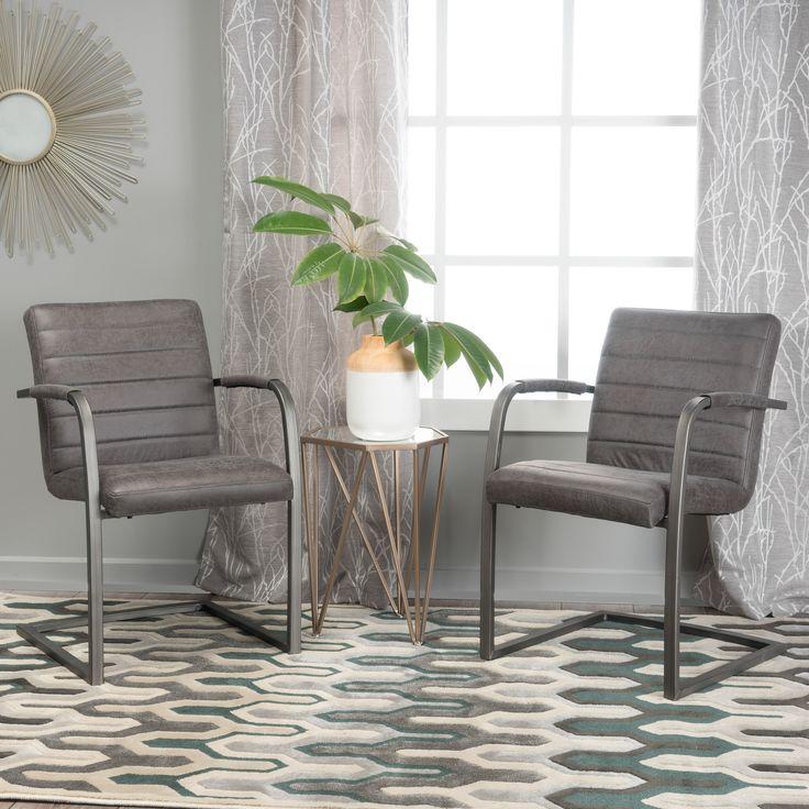 Arlo Microfiber Modern Arm Chair Set of
