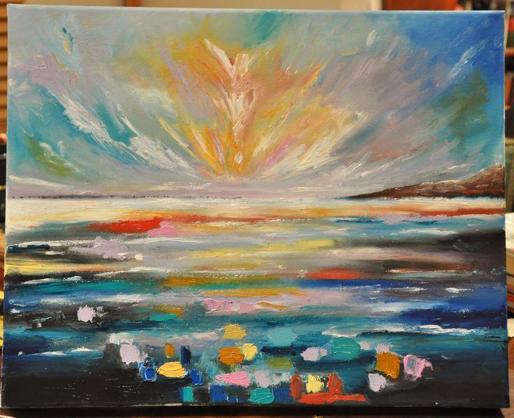 40 x 50 x 4cm - oil painting