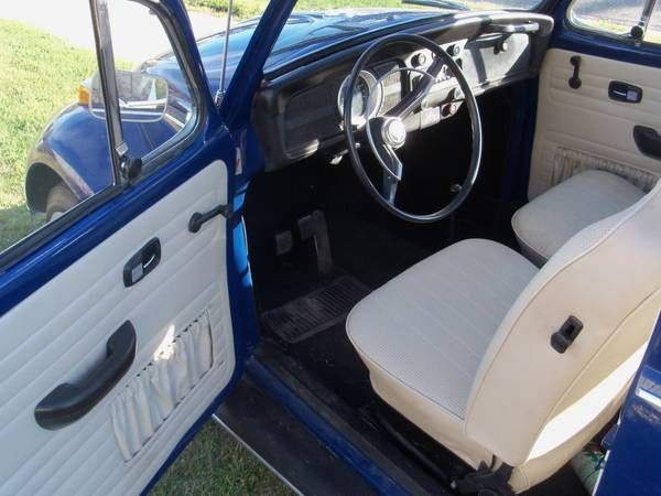 Make: Volkswagen Model: Beetle Year: 1970 Exterior Color: Blue Interior Color: White Doors: Two ...