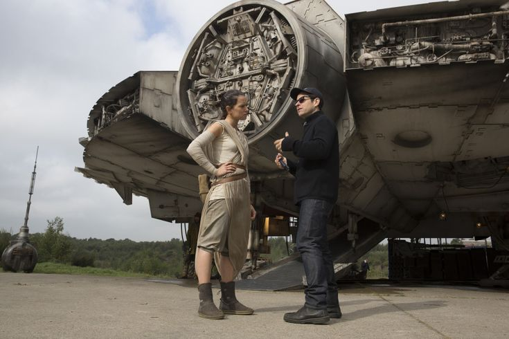 On the set of Star Wars Episode VII The Force Awakens