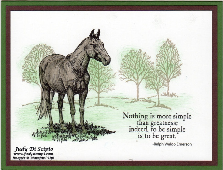 38 best horse cards images on pinterest horse horse cards and use of tree stamp behind horse bookmarktalkfo Image collections