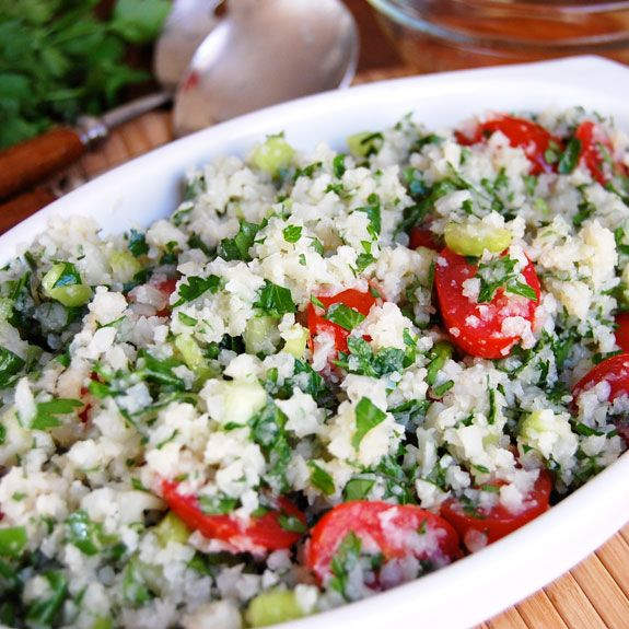.Cauliflowers Tabbouleh, Paleo Cauliflowers, Cauliflower Tabbouleh ...
