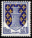 Armoiries de Niort Armoiries des villes de France (Huitième série) - Timbre de 1964