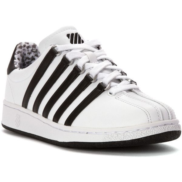 K Athletic (115 CAD) ❤ liked on Polyvore featuring shoes, athletic shoes, stripe shoes, k swiss footwear, print shoes, grip shoes and lace up shoes
