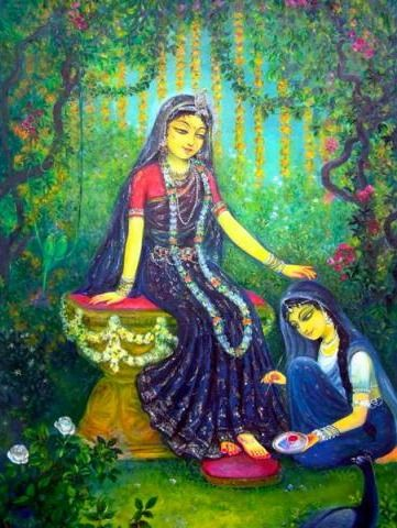 Radha dasyam, serving Srimati Radharani. And what is Her desire? To see Krishna always happy.