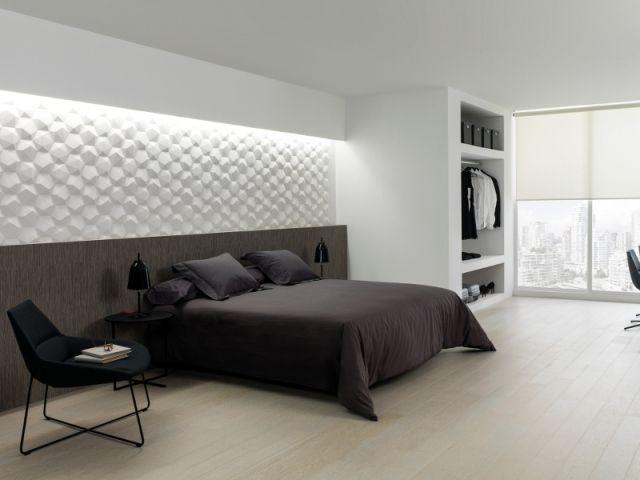Surface texturée pour une tête de lit