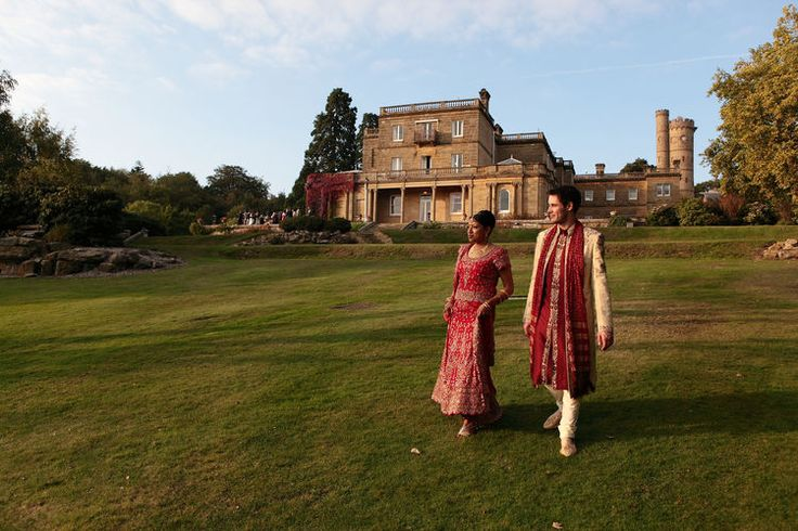 Walking in the grounds with Salomons as the backdrop
