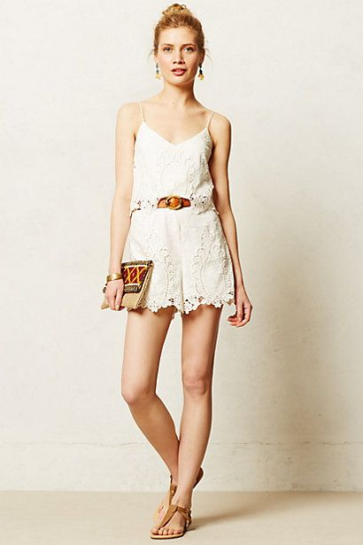 Tiered Lace Romper - anthropologie.com
