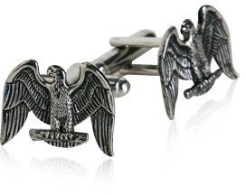 Silver American Eagle Cufflinks with Gift Box Cuff-Daddy. $28.99. Proudly MADE IN THE USA. Made by Cuff-Daddy. Arrives in hard-sided, presentation box suitable for gifting.