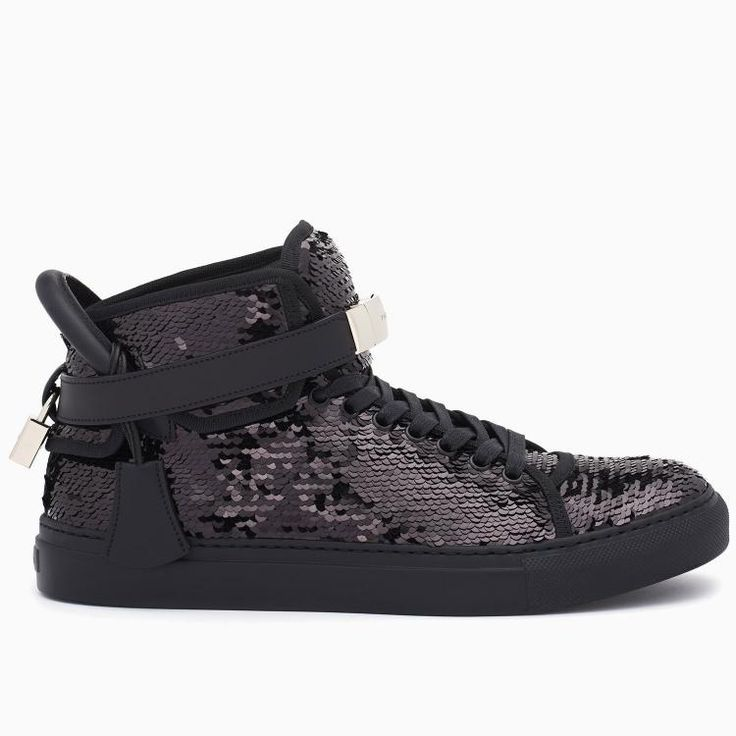 Buscemi Women's 100MM Sequin Black Sneakers #blackfriday #blackfridatgifts #shoes #sneakers #women #buscemi #thanksgivingday #fashion
