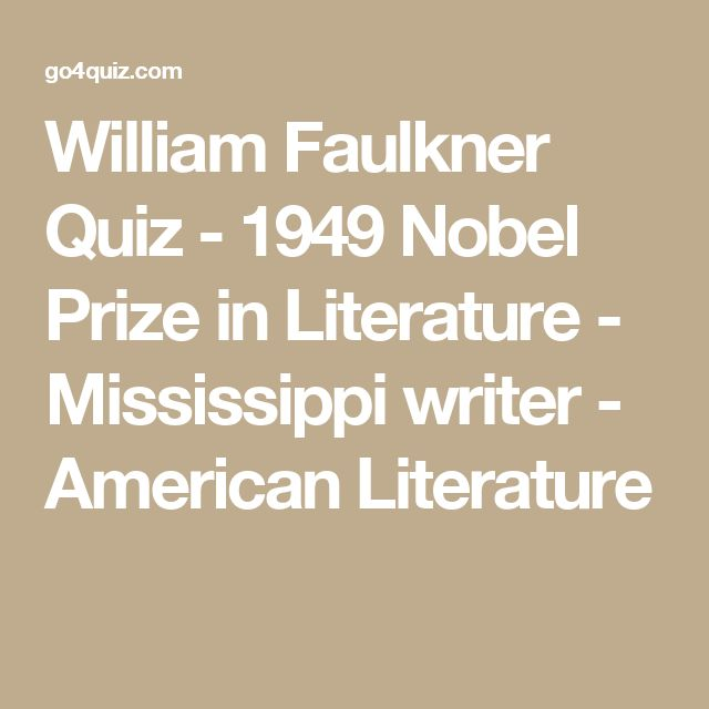 an introduction to the literature by william faulkner An analytical writing of william faulkner's barn burningthere are many ways to approach william's short story in the bedford introduction to literature, 6th edition.
