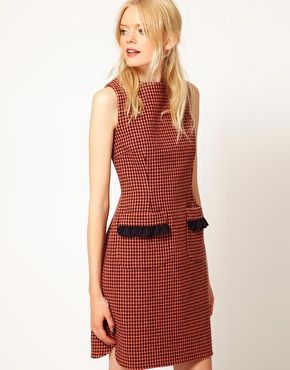 Boutique by Jaeger Edith Dress in Dogstooth