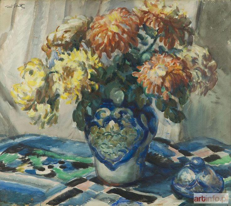 Teodor GROTT ● Kwiaty w wazonie ●