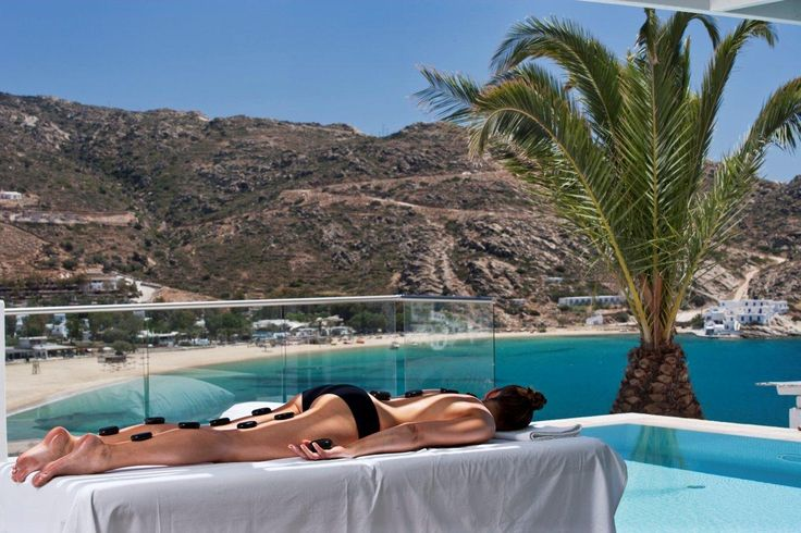 Harmony and zen moments with a view, at the Ios Palace Spa