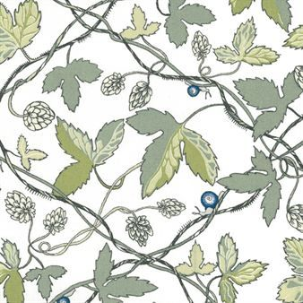 Humle fabric Ernst Kirchsteiger is the designer behind this beautiful Humle fabric with hops, a fabric that seems to have been designed many many years ago, when it at the same time is both innovative and modern. Ernst Kirchsteiger has depicted hop meandering with beautiful flower while a little snail slugs his way through the pattern