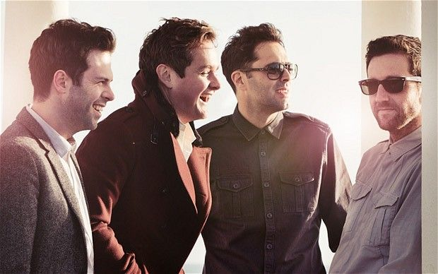 Keane, from left to right: Jessie Quin, Tom Chaplin, Tim Rice-Oxley and Richard Hughes
