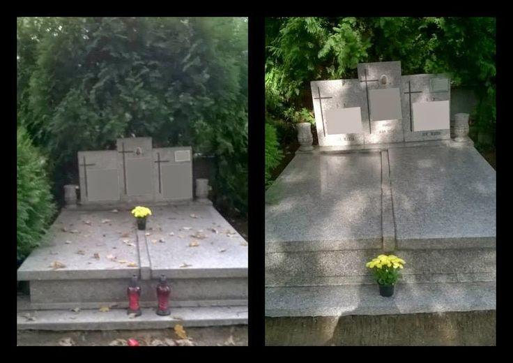 Custos - Opieka nad grobami Wrocław, grób rodzinny przed i po.