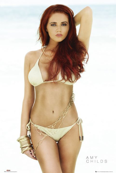 Poster of Amy Childs,  English model, beautician, reality television contestant, and television presenter from Essex.  Childs rose to fame after appearing in the first two series of the award winning ITV2 series The Only Way Is Essex.