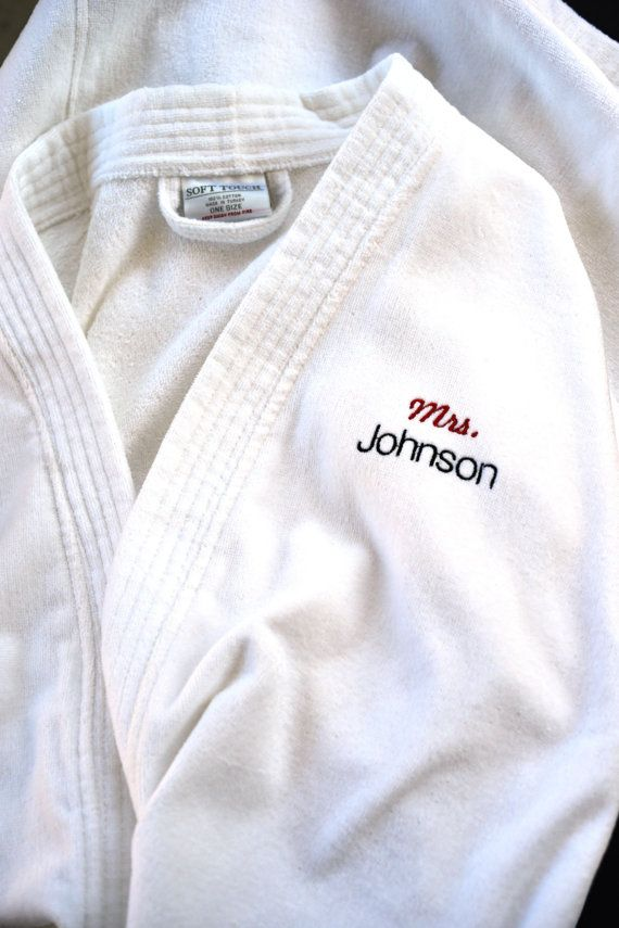 Personalized White Turkish Terry Velour by PersonalizationHub