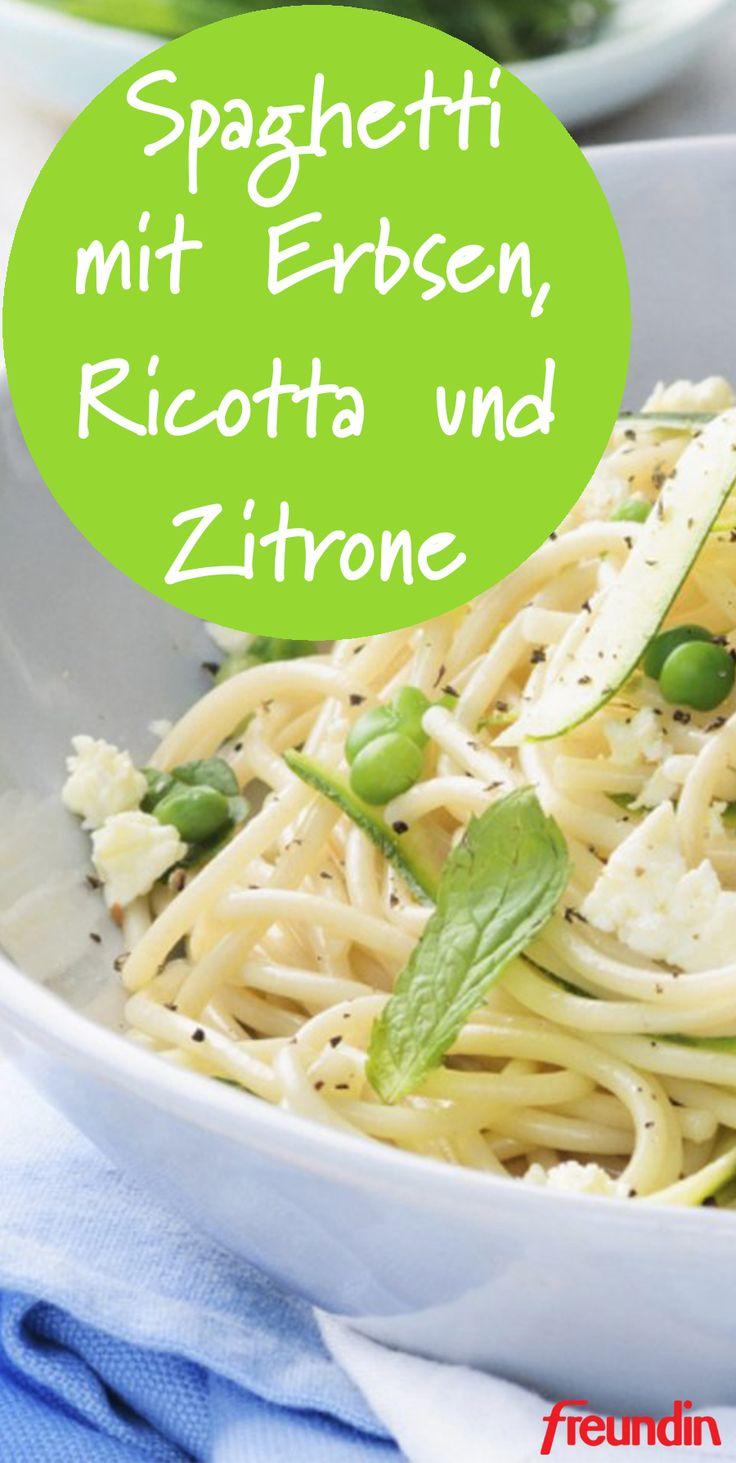 Schnell und einfach: Spaghetti mit Erbsen, Ricotta und Zitrone