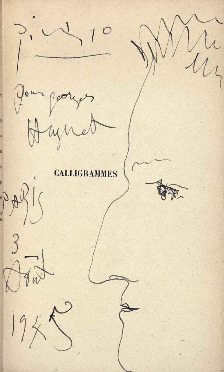 Apollinaire ~ Portrait de L'Auteur par Pablo Picasso