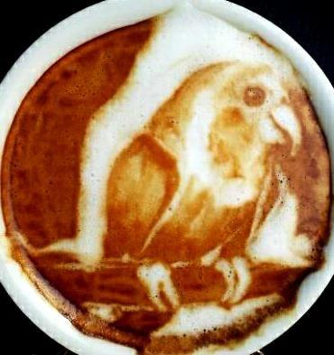 倫☜♥☞倫 Coffee Art Bird latte ....♡♥♡♥♡♥Love★it