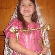 St. Cecilia Costume and Homemade Harp