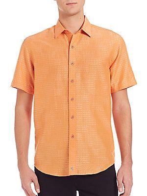 Robert Graham Santa Catalina Woven Shirt - Terracotta - Size