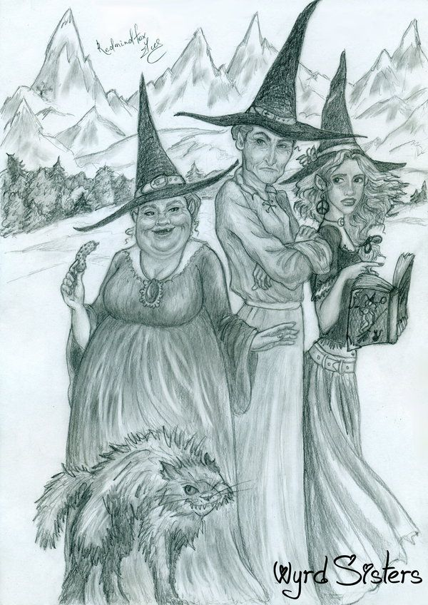 Wyrd Sisters by Redmindfox on deviantART
