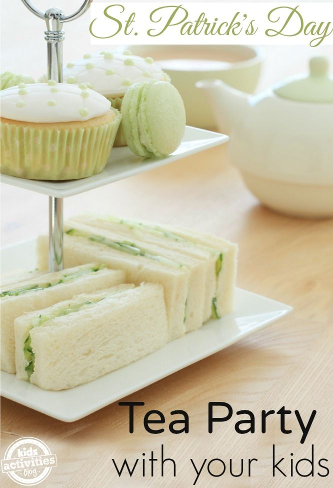 A fun idea for a St. Patrick's Day tea party with your kids.