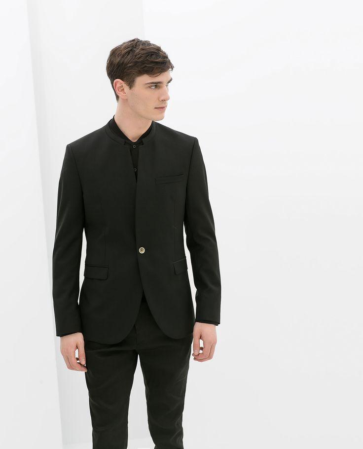 Blazer With No Lapel Blazers Man Sale Zara Germany