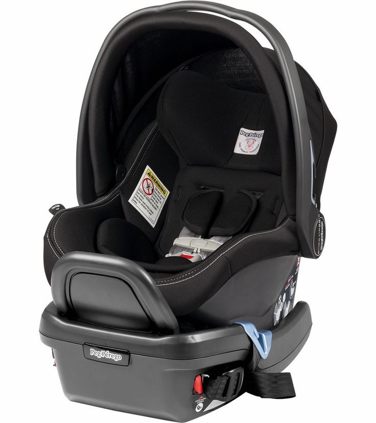 "The Peg-Perego Primo Viaggio 4-35 Infant Car Seat offers advanced protection for your child's first trip (""primo viaggio"") while featuring a sleek, modern design and luxurious Italian leather. Accommo"
