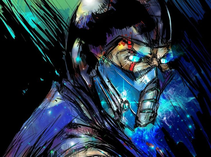 Sub-zero, mortal kombat video game, art wallpaper