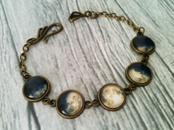 Armreif Mondphasen Vollmond Armband Raum