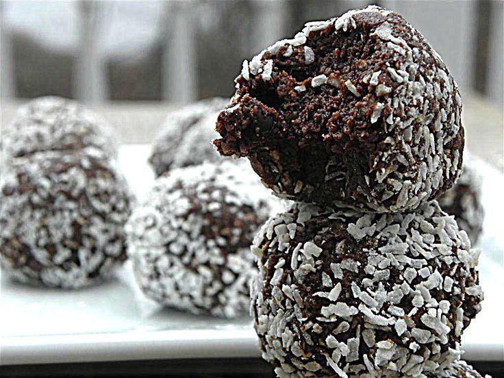 No Bake Chocolate Coconut Balls (no flour, sugar, egg, dairy, nut, and gluten)