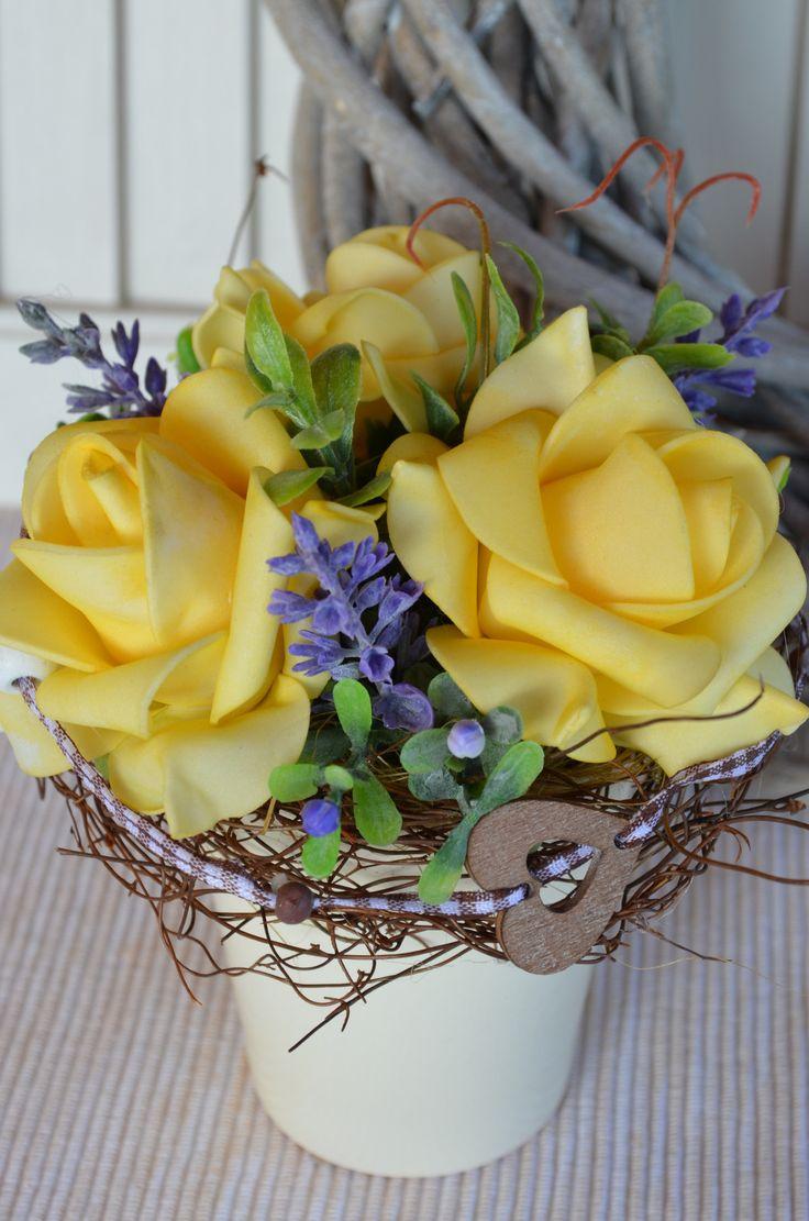 Květináček Růžičky yellow