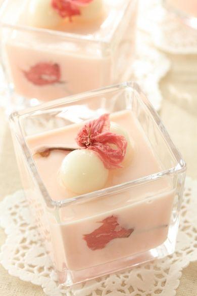 「桜のチーズデザート」きゃらめるみるく | お菓子・パンのレシピや作り方【corecle*コレクル】