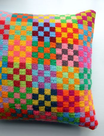 By Jane Brocket.  Love the colors and simple design - make one to go with my 25-patch quilt?