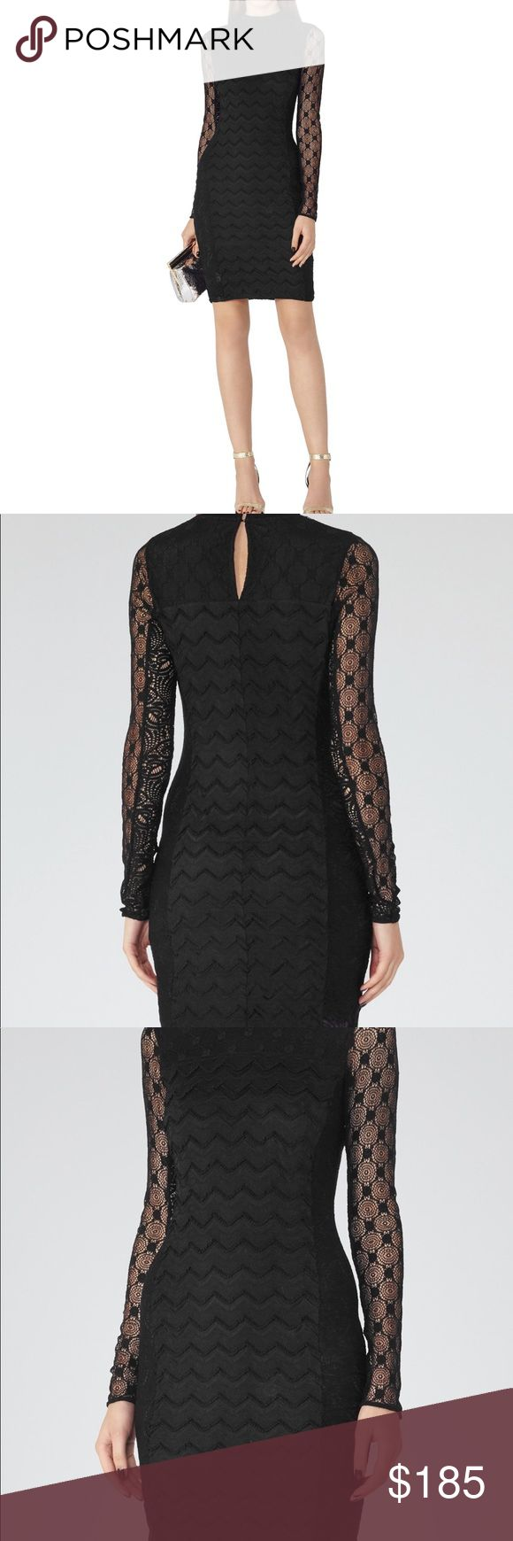 NWT Reiss Lara Lace Mix Dress Incredible Lace Arm Dress. New with tags. Authenticity Guaranteed. Reiss Dresses