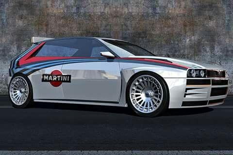 Lancia Delta HF Integrale Concept: 3D-Rendering                                                                                                                                                     Mehr