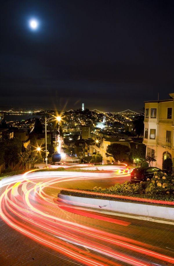 hawk hill san francisco ca   Lombard Street Russian Hill San Francisco 8 San Franciscos Lombard ...