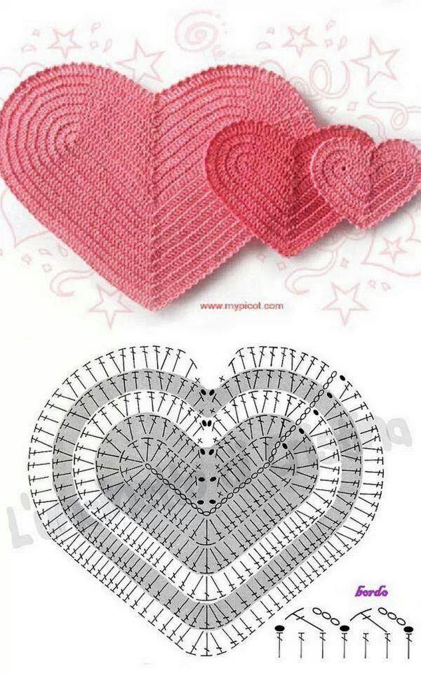 Contemporáneo Corazón Rojo Patrones De Ganchillo Principiantes ...