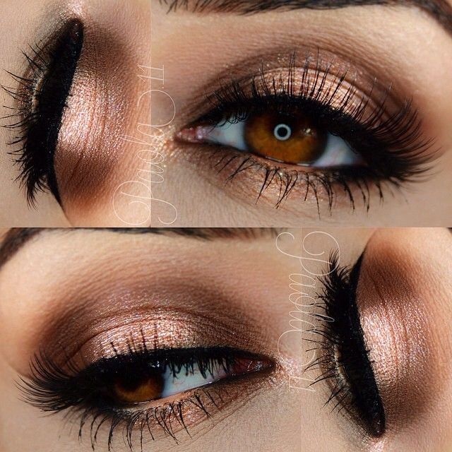 Bronze goddess! Eye details by @paola.11 Eyeshadow Base: Jumbo Eye Pencil in…