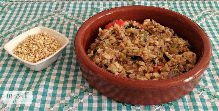Trigo tierno con verduras y carne - http://www.mycookrecetas.com/trigo-tierno-con-verduras-y-carne/