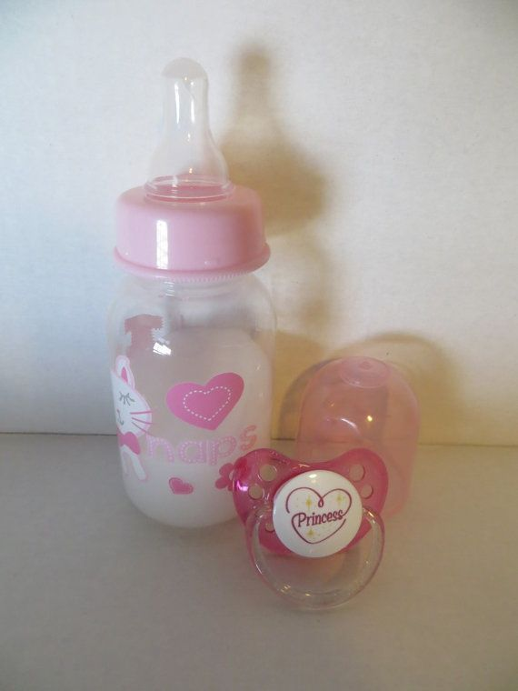 Reborn Baby Doll Bottle with Fake Milk plus Pacifier - BABY DOLL PROP - GENTLE PLAY ONLY. AGES 8 YEARS+ Please Use Drop Down Menu to Choose