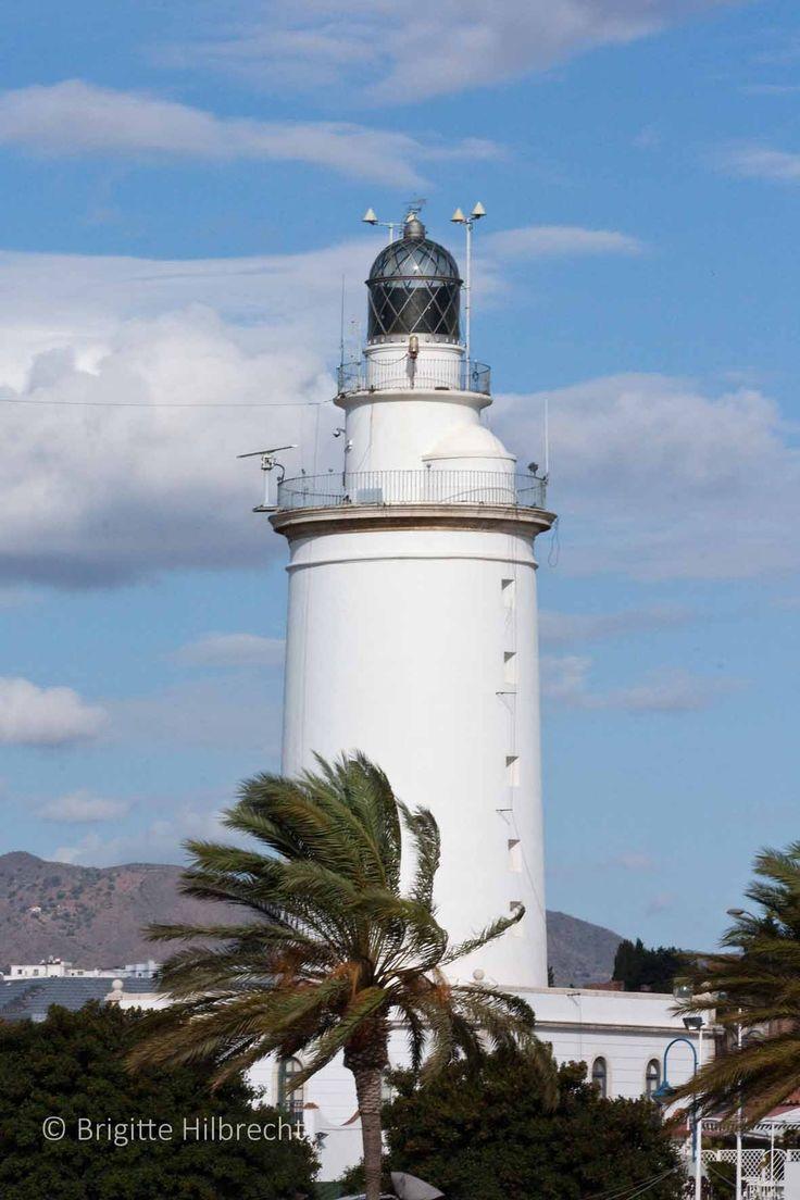 #Málaga #Port #lighthouse / All places of interest you'll find here: http://www.amazon.co.uk/M%C3%A1laga-Capital-Coast-Brigitte-Hilbrecht/dp/1517300533/ref=sr_1_1?s=books&ie=UTF8&qid=1456574193&sr=1-1&keywords=malaga