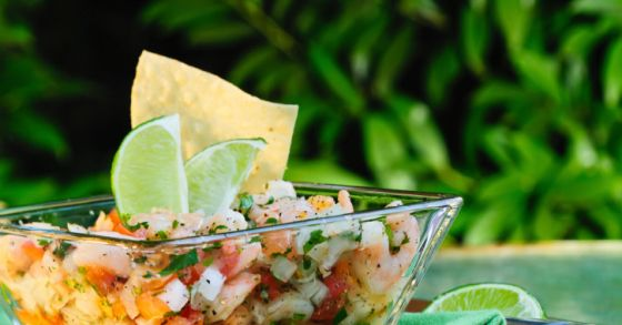 Shrimp ceviche is easily prepared a couple hours ahead of serving time and will be a delicious addition to your evening meals this summer.